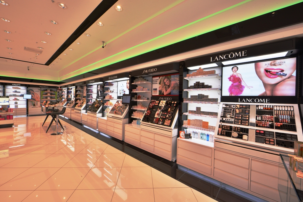 kozmetik parfümeri raf sistemleri