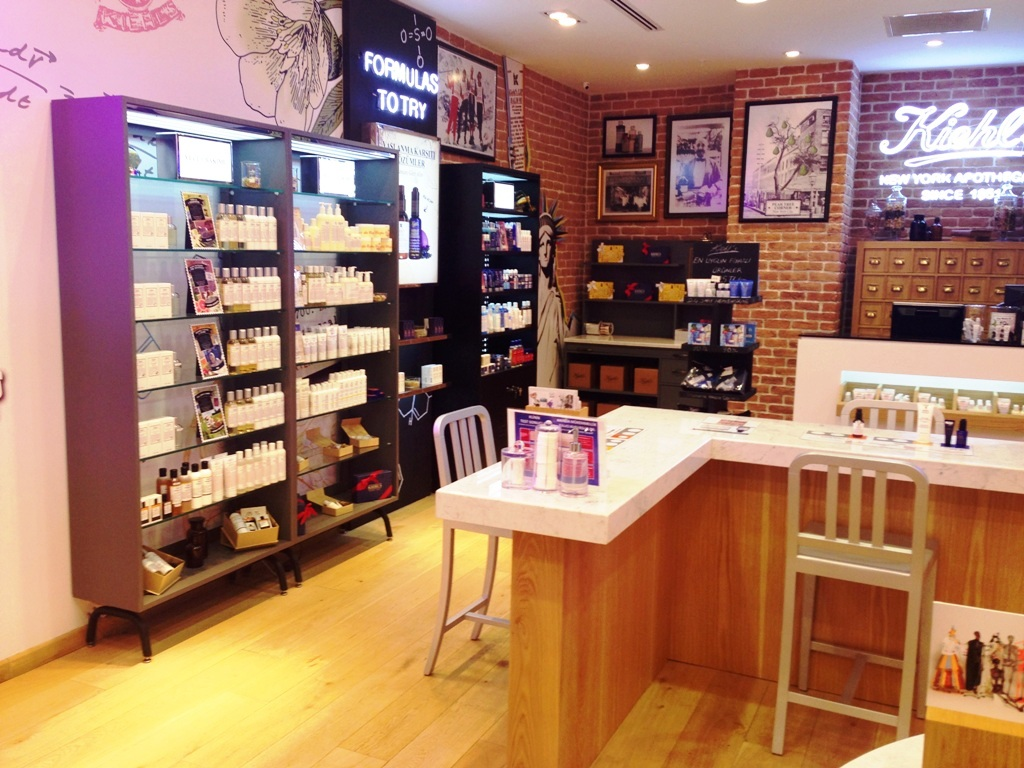 kozmetik mağaza raf sistemi