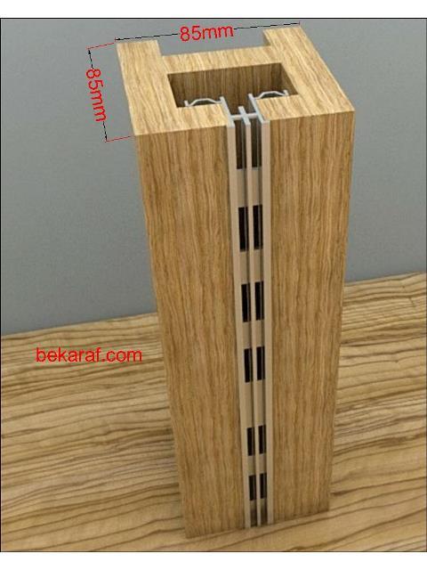 alüminyum kolon raf sistemi