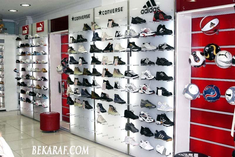 ayakkabı mağazası raf sistemleri