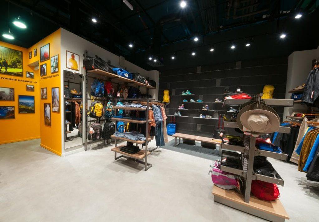 Spor giyim mağaza tasarımı